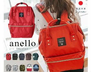 日本直送Anello時尚帆布後背包