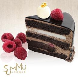 黑爵士蛋糕 (6吋)半熟巧克力乳酪+覆盆莓