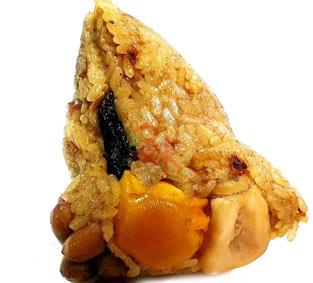 干貝魷魚花生粽