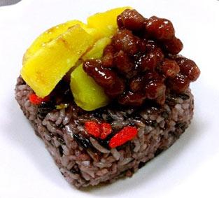 紅甜紫米蜜意粽