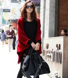 韓版蝙蝠袖針織外套《四色》