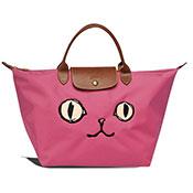 Longchamp 貓咪款短把水餃包