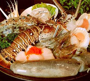 痛風系料理!貝里斯龍蝦鍋