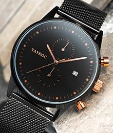 Tayroc時尚雅痞紳士計時腕錶