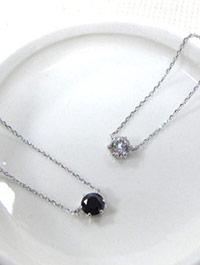 施華洛世奇單顆水鑽925純銀鎖骨項鍊