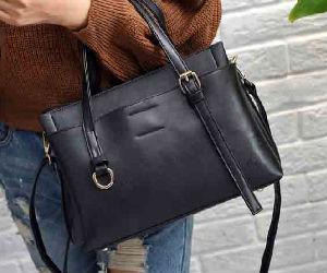 不對稱提把設計簡約手提包