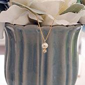 棉花珍珠鑽石項鍊