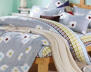 日系流行印花被套床包組