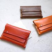 日本手工皮革名片夾