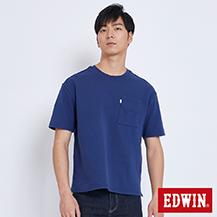 EDWIN 挺版箱型 短袖T恤