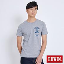 EDWIN 探險油燈印圖 短袖T恤