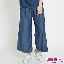 SOMETHING 舒適柔軟 牛仔闊腿褲