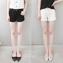 純色口袋短褲