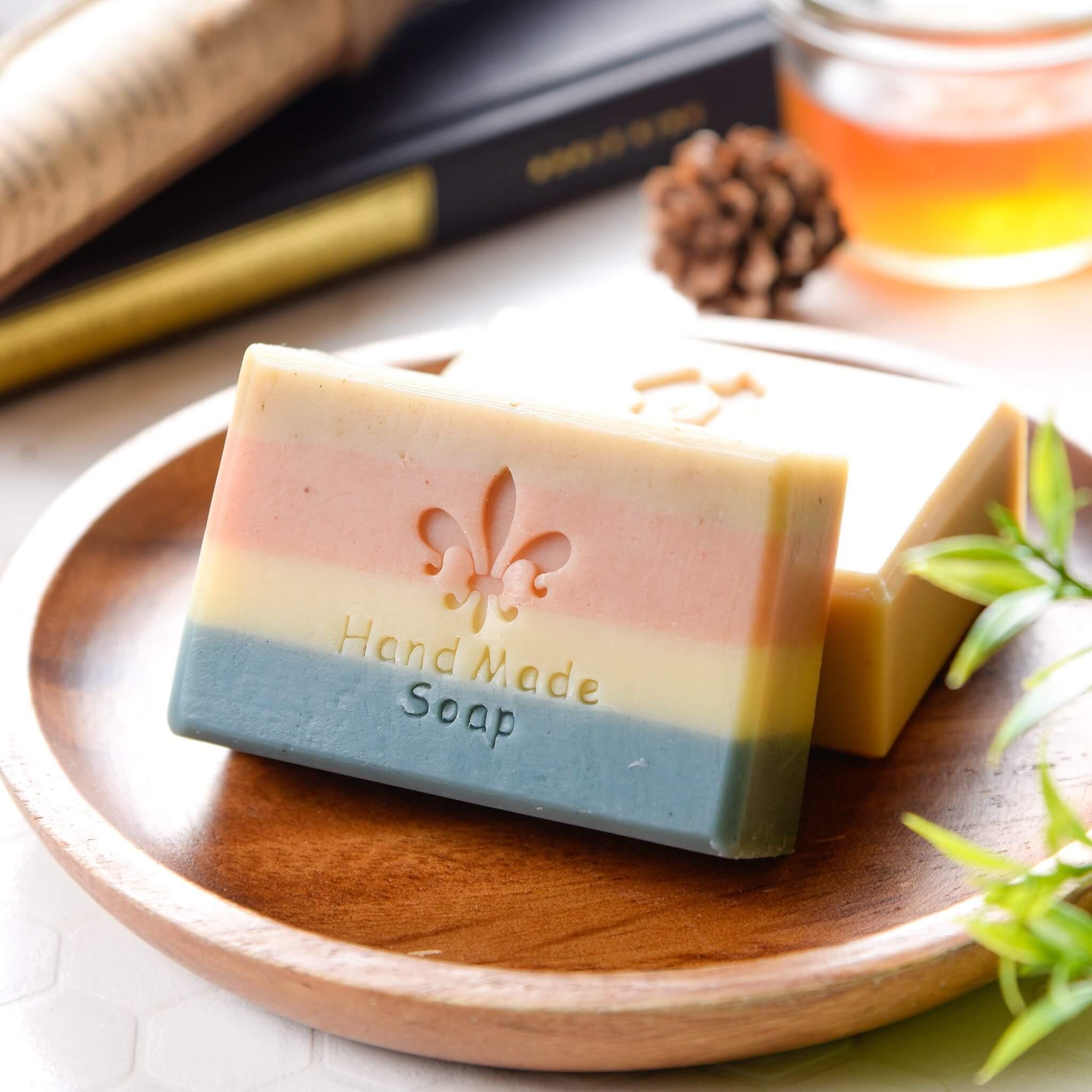 甜杏薰衣草天然手工皂