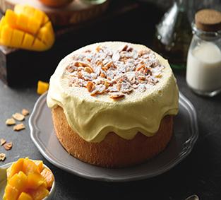 爆漿芒果奶蓋蛋糕