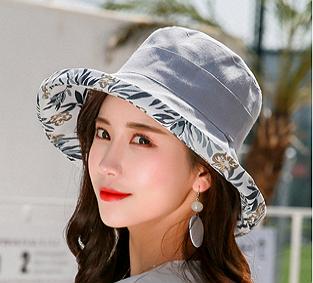 花朵款雙面雙色大帽沿遮陽帽