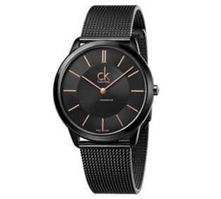 CK 經典系列黑金米蘭時尚腕錶