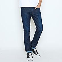 EDGE LINE 麂皮芽邊窄直筒牛仔褲