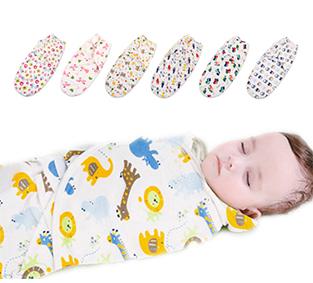 新生兒必備!純棉可調式簡易包巾/包頭款