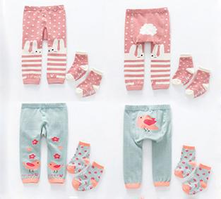 俏皮實穿!糖果色系嬰幼兒針織棉褲襪組
