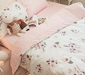 粉色花嫁純棉床包