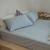 水洗棉 素色床包枕套組【尺寸花色任選】