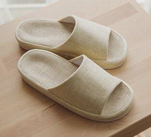 韓系素面棉麻室內鞋