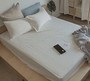 素面水洗棉床包枕套