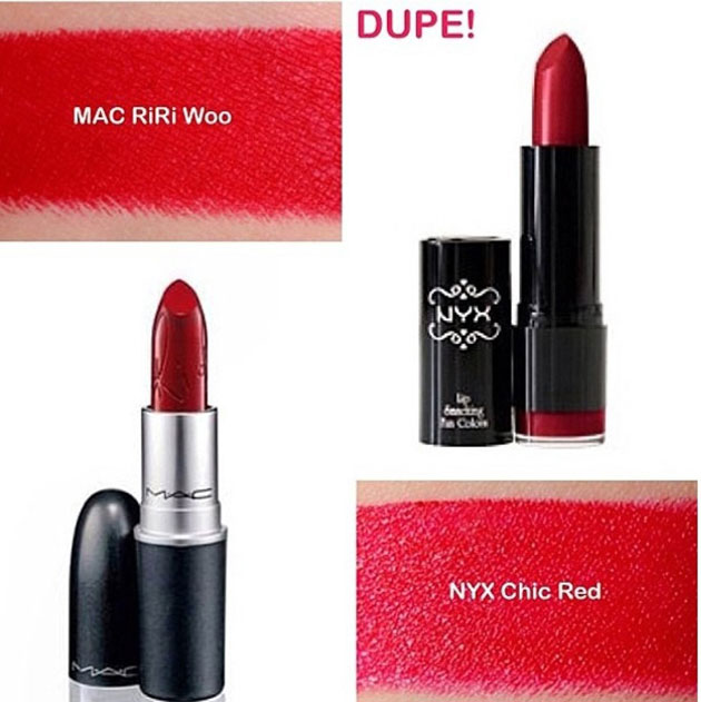 NYX Cosmetics Round Case Lipstick In Chic Red