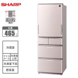 SHARP夏寶日本原裝465L五門冰箱 SJ-XW47X