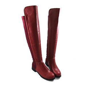 獨家美腿設計皮革過膝長靴