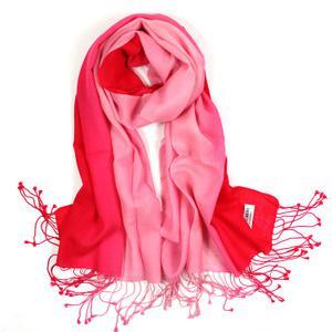 100%純羊毛紅色漸變色系列圍巾