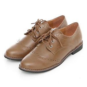 英倫雕花低跟韓版牛津鞋