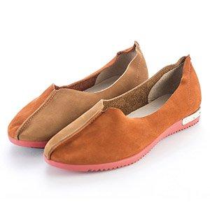 微尖頭素面平底包鞋
