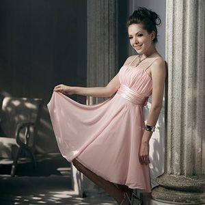甜美典雅平口顯瘦洋裝
