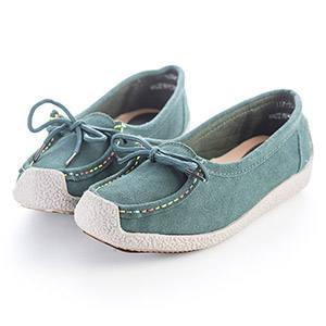 綁帶蝴蝶結舒適包鞋