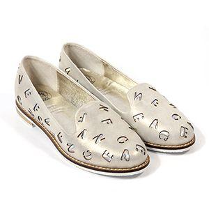 雷射幻彩字母休閒鞋