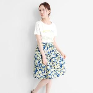 夏威夷風印花喇叭裙