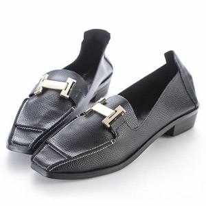 專櫃小羊皮H釦飾包鞋