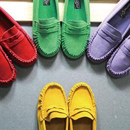熱銷麂皮糖果豆豆鞋