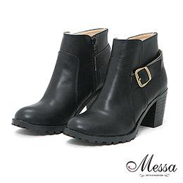 Messa時尚俐落感踝靴