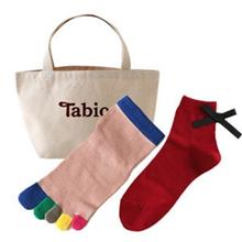 靴下屋Tabio 蝴蝶結短襪+彩色五趾襪 福袋