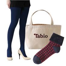 靴下屋Tabio 連褲襪110D+千鳥格紋折疊短襪 福袋