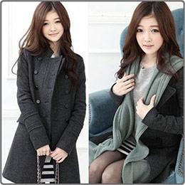 韓版雙排扣風衣外套