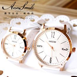 香港時尚品牌KEZZI*簡約內圈情侶款動物紋皮質腕錶*2款4色