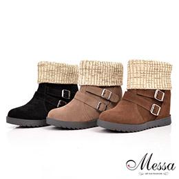 針織襪套環釦短靴