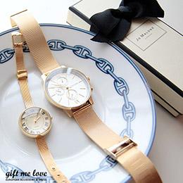 正韓時尚金色復古系男女手錶