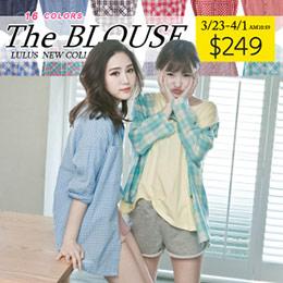 粉嫩雙口袋寬鬆襯衫-16色