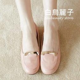 淑女簡約金環平底包鞋35-40碼