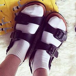 歐美流行經典時尚軟木風涼鞋